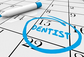 Dentist appointment marked on calendar.