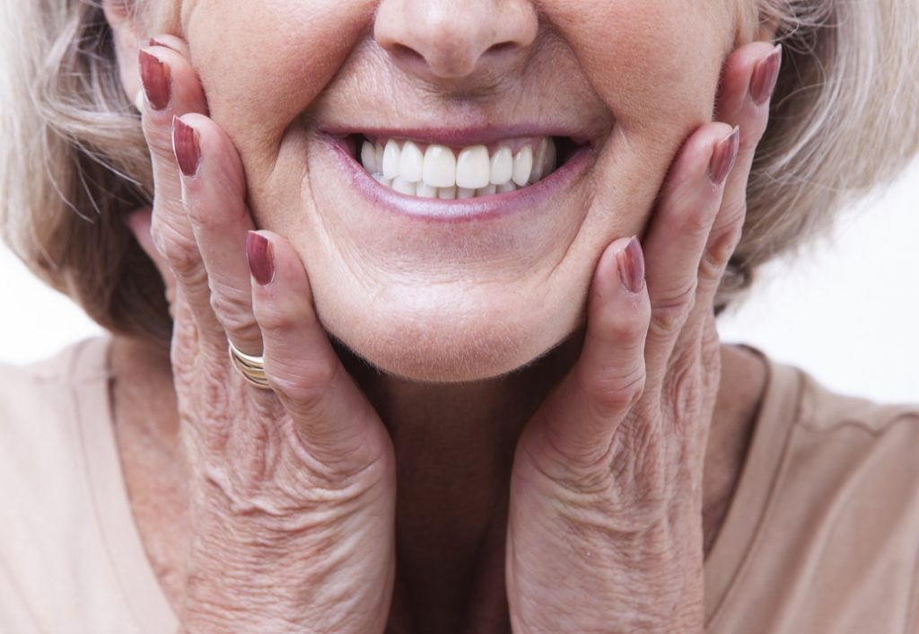 Woman with dentures from Wharton