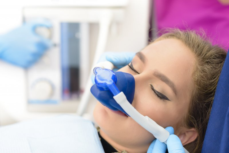 Woman getting nitrous oxide
